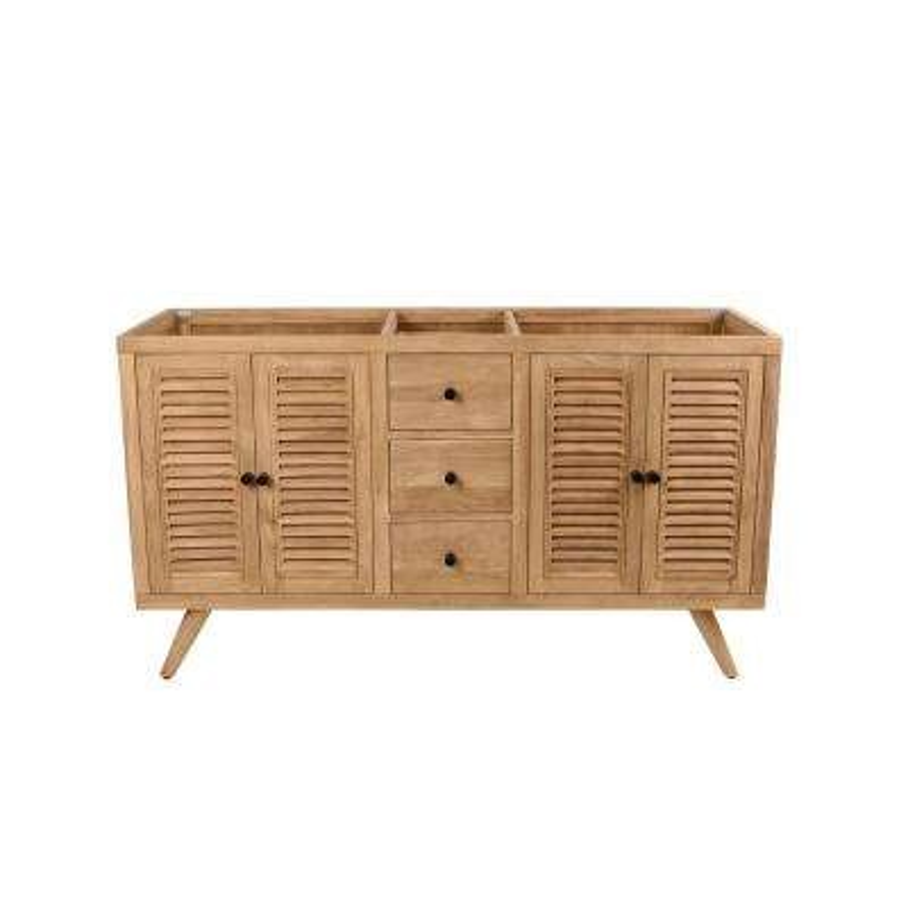 Harper 60 in. Vanity Cabinet Only in Natural Teak
