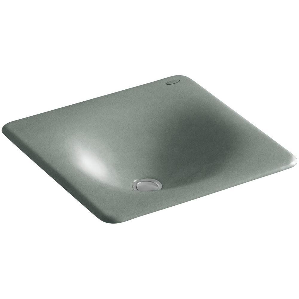 KOHLER Iron/Tones Undermount Cast Iron Bathroom Sink in Basalt