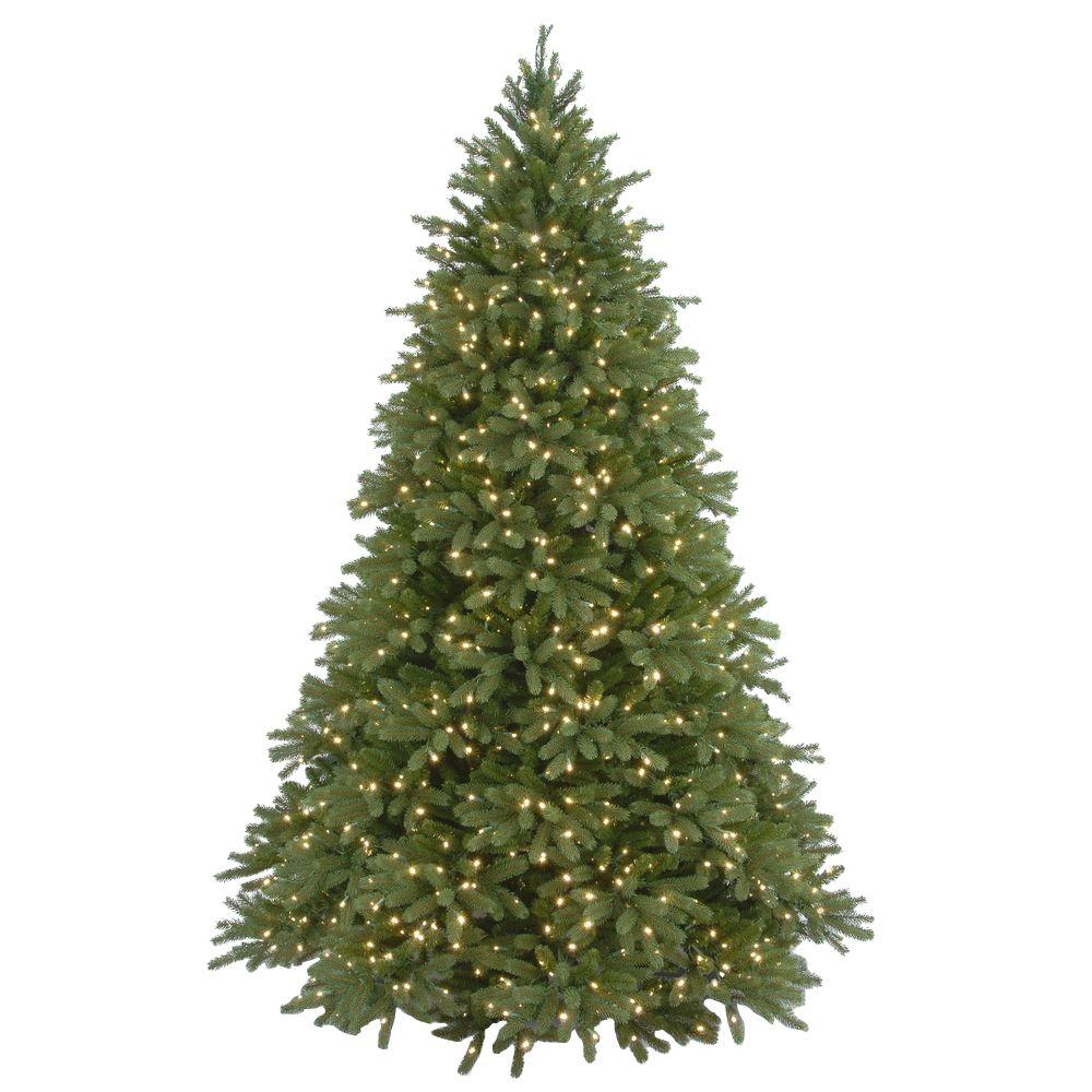 national tree company 9 ft jersey fraser fir artificial christmas tree with clear lights