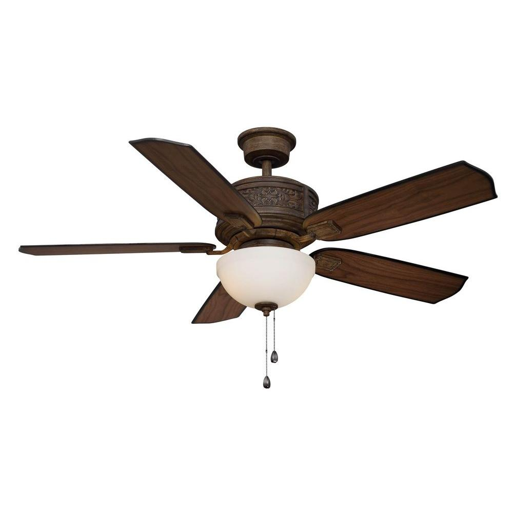 Home Decorators Collection Blanchard 52 in. Indoor Dark Walnut Ceiling Fan with Light Kit