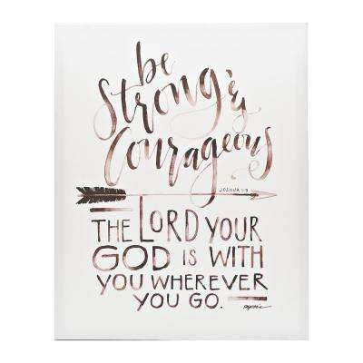 "GraceLaced ""Be Strong"" by GraceLaced for Carpentree Printed Canvas Wall Art"