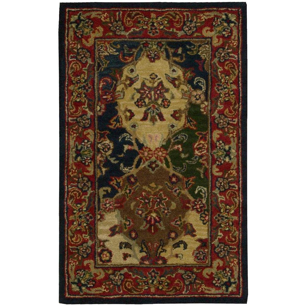 This Review Is FromIndia House Multicolor 2 Ft 6 In X 4 Accent Rug
