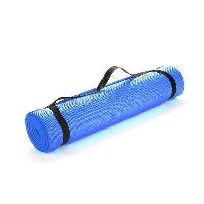 All Purpose Extra Thick Blue Fitness & Exercise 24 in. x 68 in. Yoga Mat with Carrying Strap