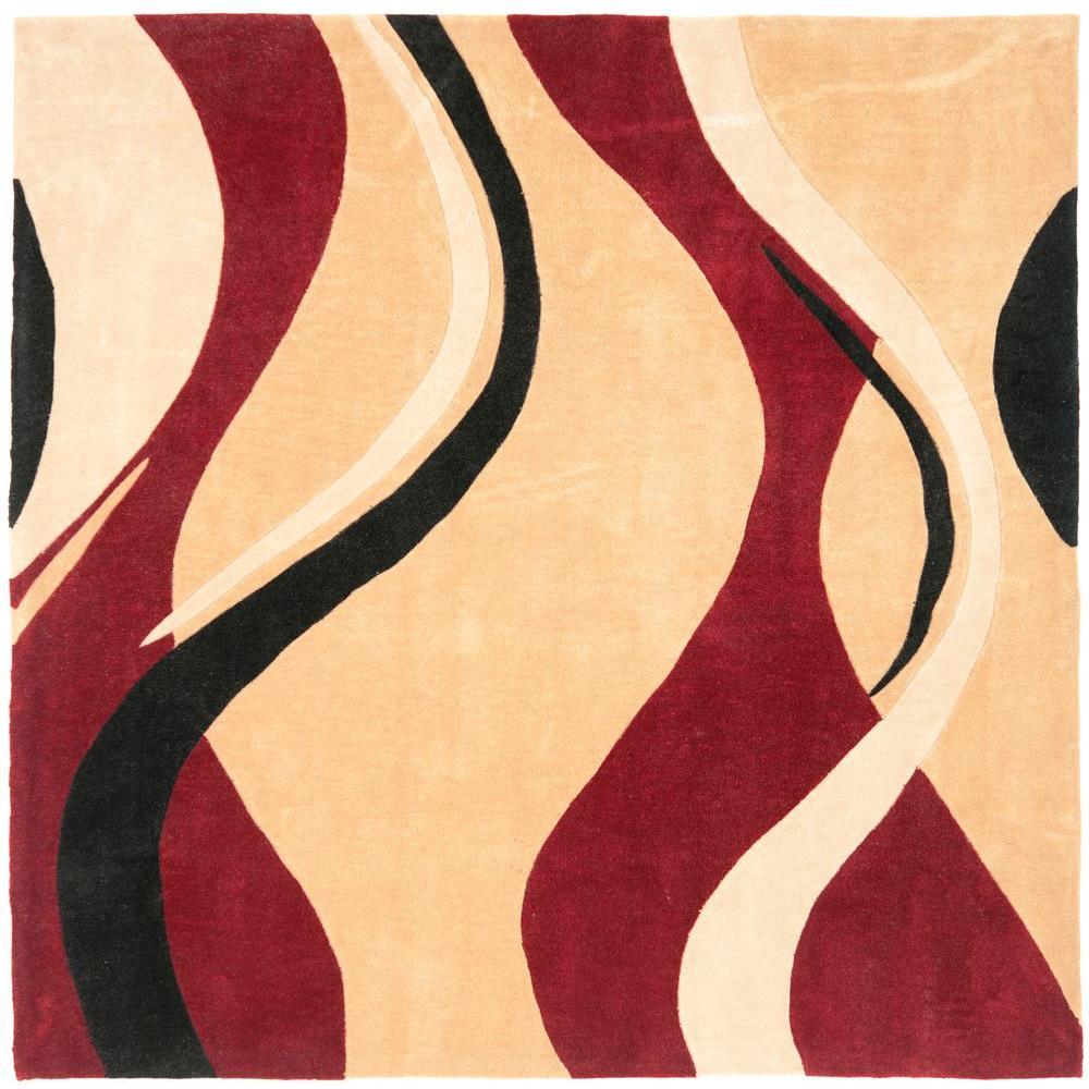 Safavieh Modern Art Rust/Ivory 7 ft. x 7 ft. Square Area Rug