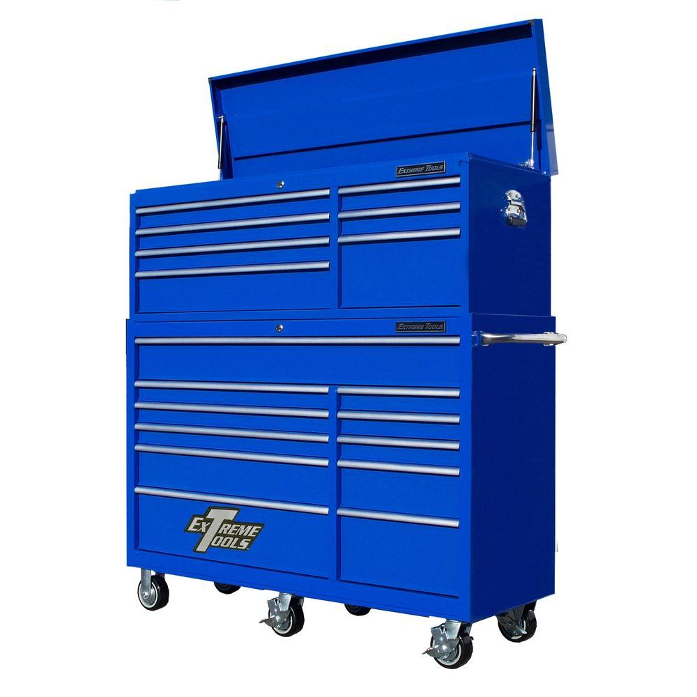 RX Series 56 in. 7-Drawer Top Chest and 11-Drawer Roller Cabinet
