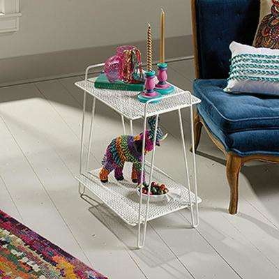 Eden Rue White Metal Accent Table