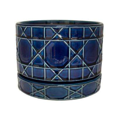 8.5 in. Dia Blue Carlysle Ceramic Bowl