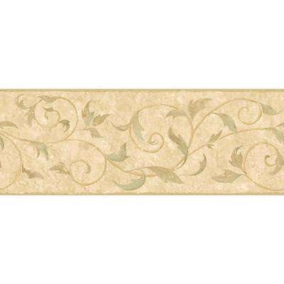 Inspired By Color Vine Scroll Wallpaper Border