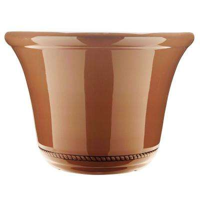 Westbourne Flange 22.5 in. Dia Saddle Resin Planter