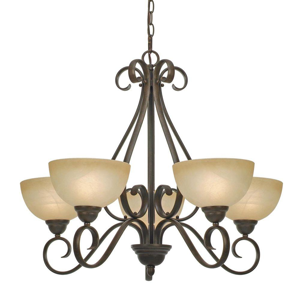 null Myers Collection 5-Light Peppercorn Chandelier