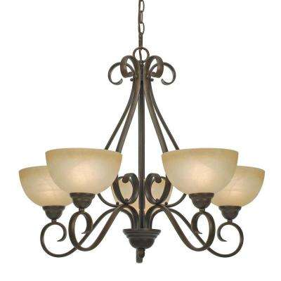 Riverton Collection 5-Light Peppercorn Chandelier