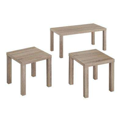 Essential Driftwood 3-Piece End/Side Table Set
