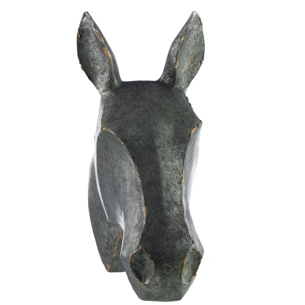 10.5 sq. ft. Distressed Metal Look Muskoka Bullock Wall Art Horse