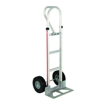 500 lb. Capacity Aluminum Hand Truck with Vertical Loop Handle, Diecast Nose Plate and Microcellular Foam Wheels