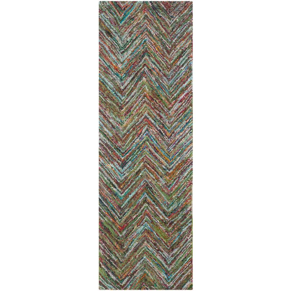 Nantucket Blue/Multi 2 ft. x 9 ft. Runner Rug