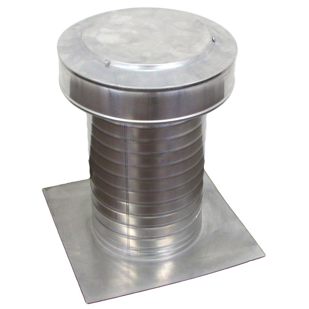 Active Ventilation 8 in. Dia Keepa Vent an Aluminum Roof Vent for Flat Roofs