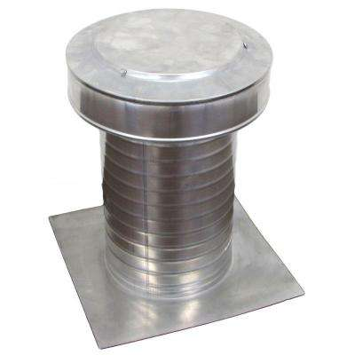 8 in. Dia Keepa Vent an Aluminum Roof Vent for Flat Roofs