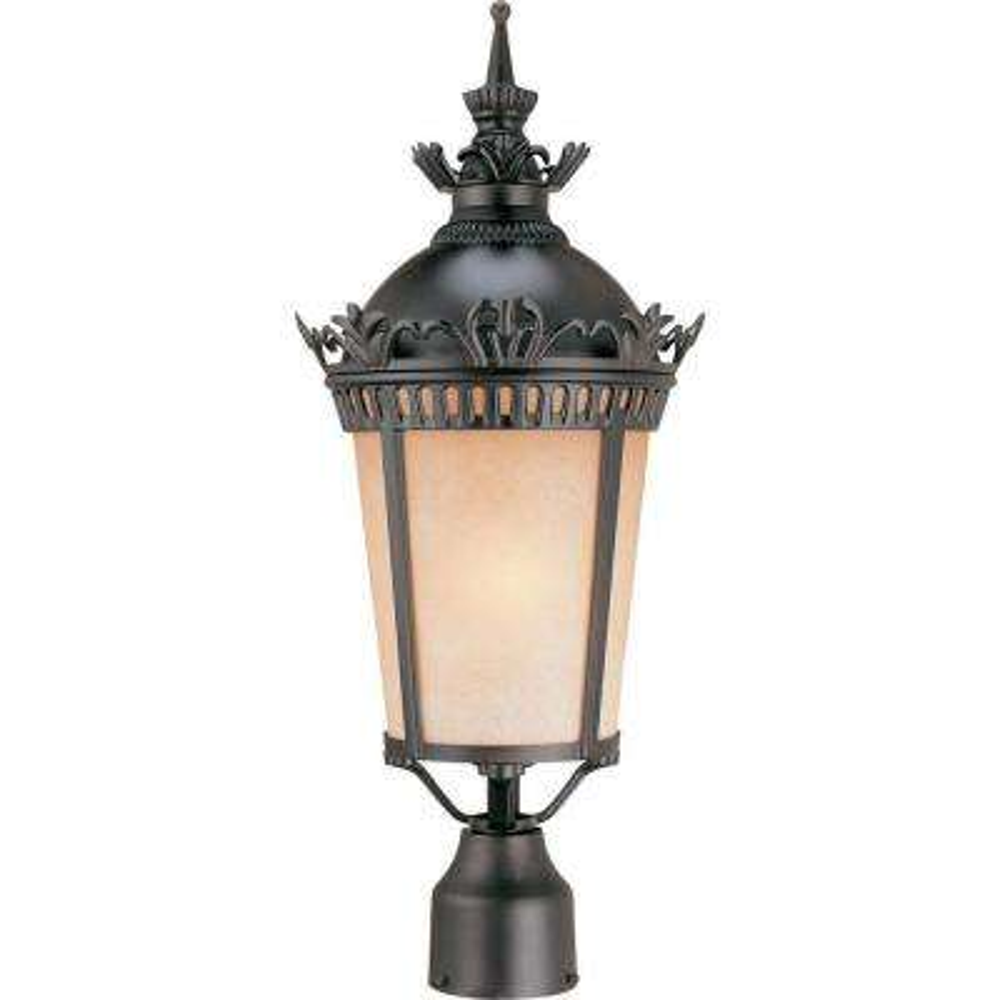 1-Light Foundry Bronze Outdoor Post Light