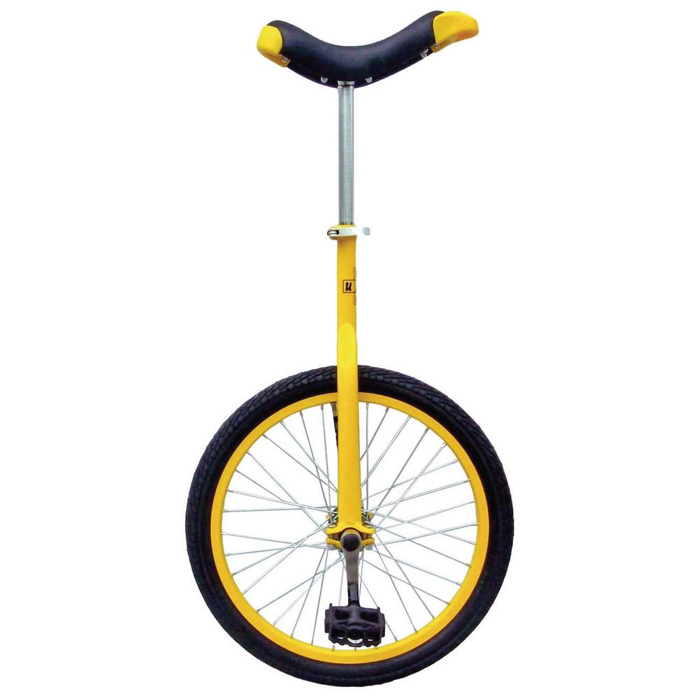 Yellow 20 in. Unicycle with Alloy Rim, Yellows/Golds