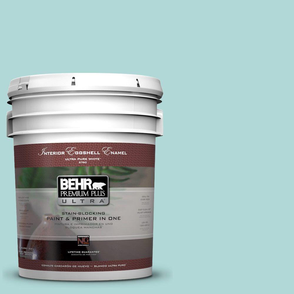 BEHR Premium Plus Ultra 5-gal. #T12-19 Sugar Pool Eggshell Enamel Interior Paint