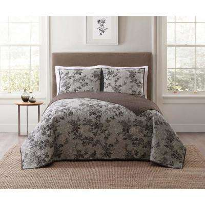 Lisborn Brown Twin XL Quilt Set