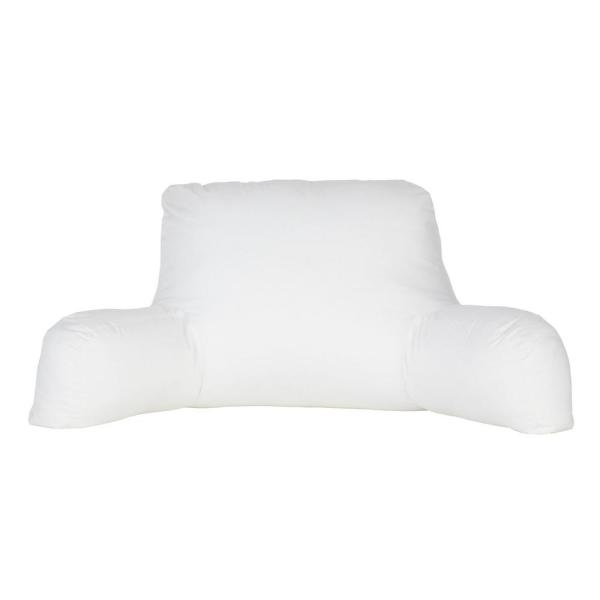 The Company Cotton White Down Bed Rest Decorative Pillow Insert 19 In