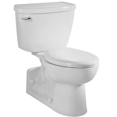 Yorkville Pressure-Assisted 2-Piece 1.6 GPF Single Flush Elongated Toilet with Back Drain in White, Seat Not Included