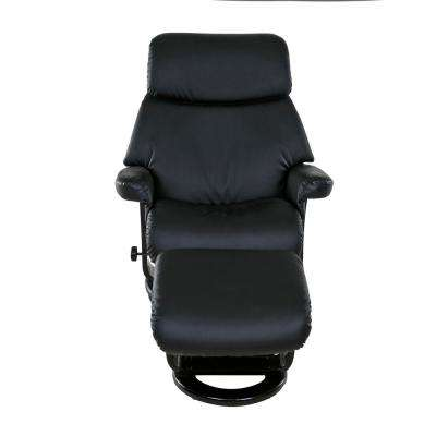 Classic Black Bonded Leather Recliner with Ottoman  sc 1 st  The Home Depot & Black - Recliners - Chairs - The Home Depot islam-shia.org