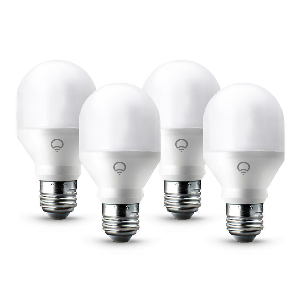 Home Depot Colored Light Bulbs: LIFX 60-Watt Equivalent Mini Multi-Color A19 Dimmable Wi