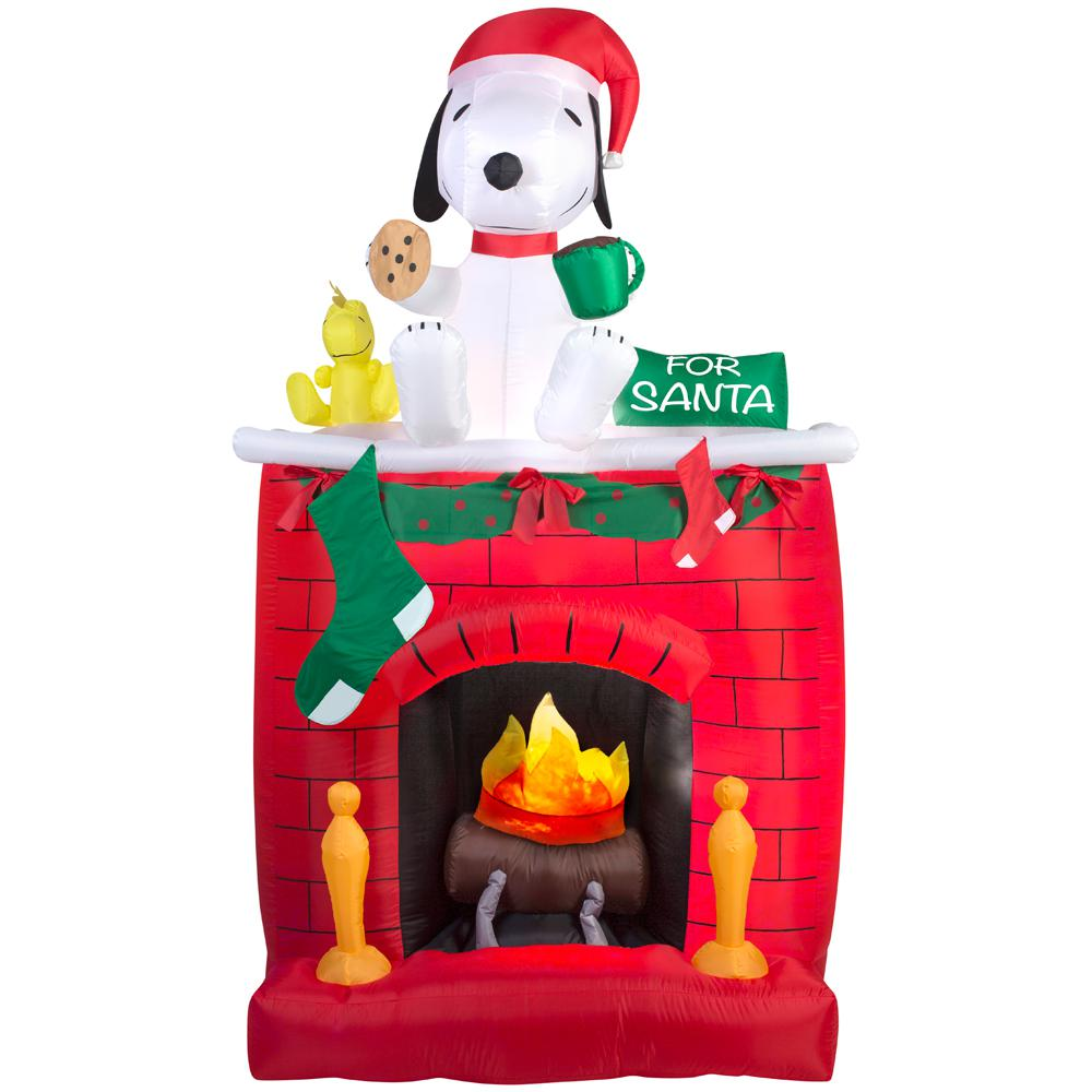 airblown 4921 in w x 2559 in d x 8386 in h inflatable - Snoopy Blow Up Christmas Decorations