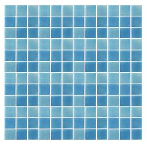 Epoch Architectural Surfaces Spongez S Light Blue 1408 Mosiac Recycled Gl Mesh Mounted Floor And Wall Tile 3 In X Sample