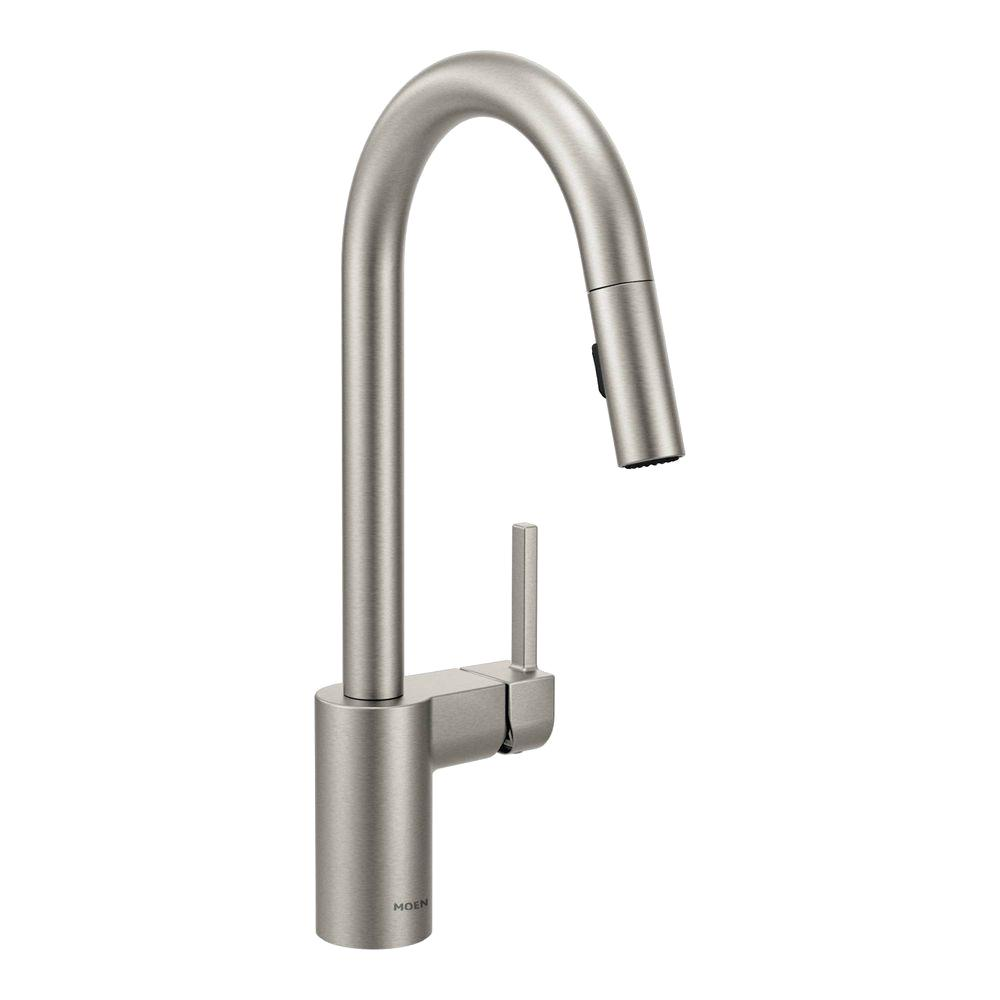 MOEN Align Single-Handle Pull-Down Sprayer Kitchen Faucet with Reflex in Spot Resist Stainless