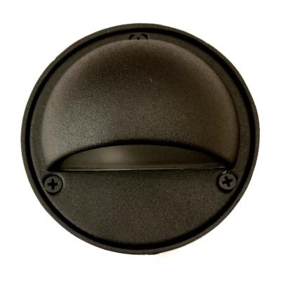 Low Voltage Black Outdoor Landscape Round Step/Deck Light