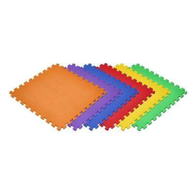 Rainbow 24 in. x 24 in. EVA Foam Non-Toxic Solid Color Interlocking Tiles (72 sq. ft. - 18 tiles)