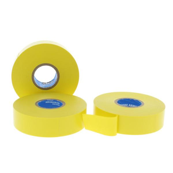 Wire Armour 3/4 in. x 66 ft. Premium Vinyl Tape, Yellow (10-Pack)
