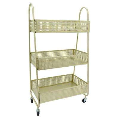 11 in. x 16 in. Storage Rack in Gold