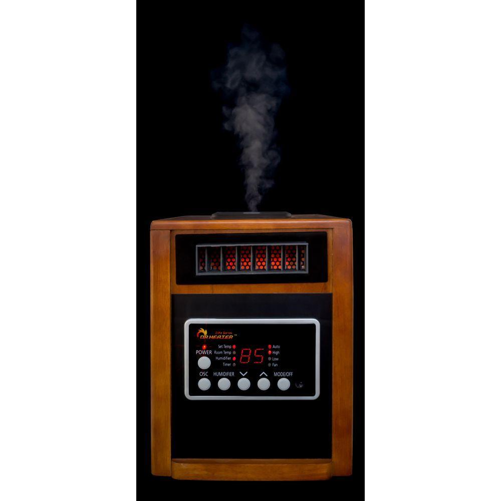 elite series 1500watt dual heating system infrared portable heater with builtin ultrasonic