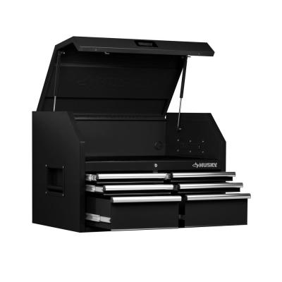 36 in. W 6-Drawer, Deep Tool Chest in Gloss Black