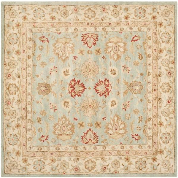 Safavieh Antiquity Grey Blue Beige 8 Ft X 8 Ft Square Area Rug At822a 8sq The Home Depot