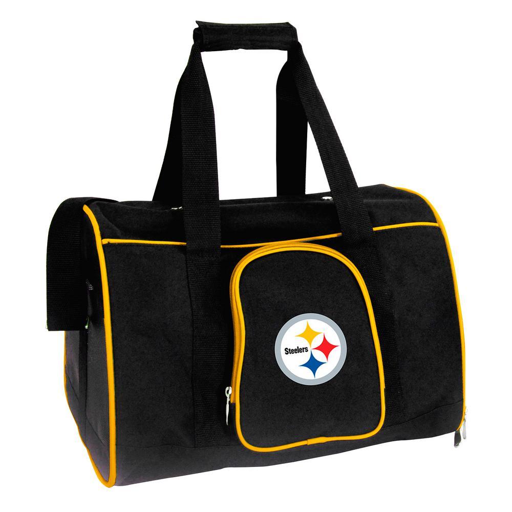 NFL Pittsburgh Steelers Pet Carrier Premium 16 in. Bag in Yellow