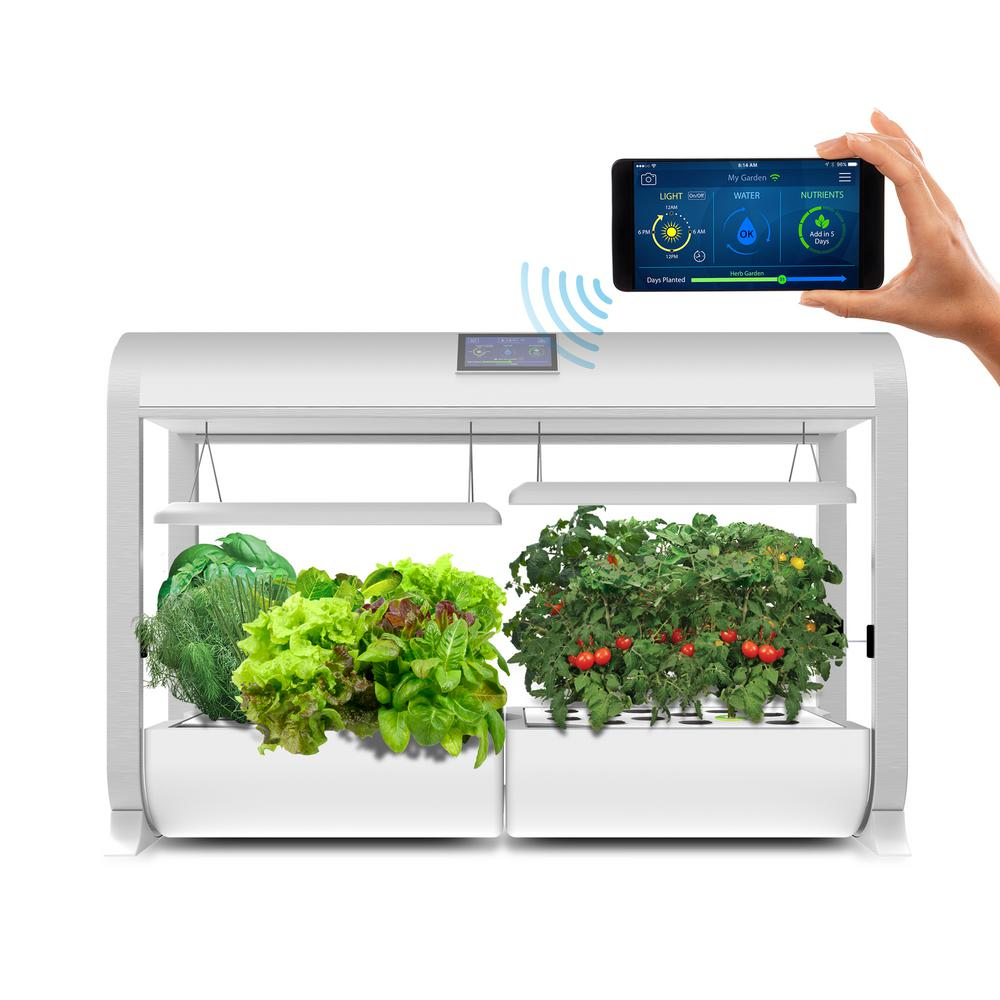 Aerogarden Farm Hydroponic Garden Kit For Indoor Growing In White