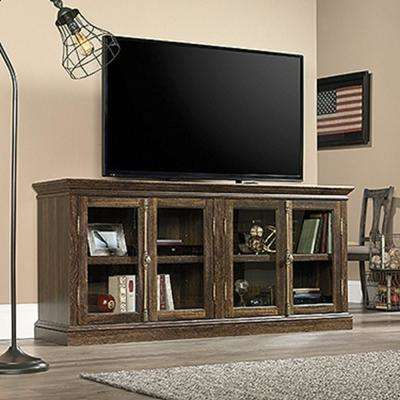 Barrister Lane Iron Oak 4-Door Entertainment Center