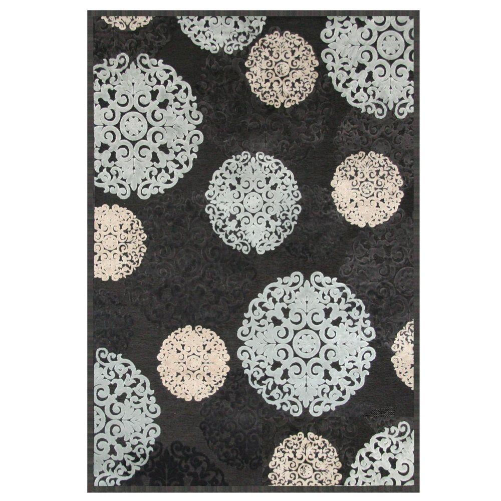 Sams international napa dante charcoal 5 ft 3 in x 7 ft for International decor rugs