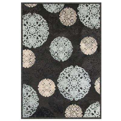 Napa Dante Charcoal 5 ft. 3 in. x 7 ft. 6 in. Area Rug