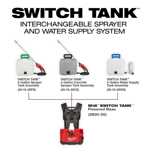 Milwaukee 4 Gal Switch Tank Water Supply Tank Assembly 3 Tanks 49 16 28ws 49 16 28ws 49 16 28ws The Home Depot