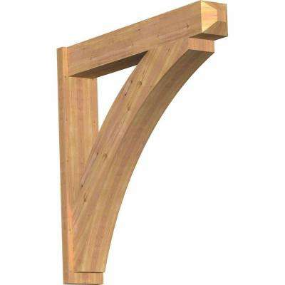 8 in. x 44 in. x 44 in. Western Red Cedar Thorton Craftsman Smooth Outlooker