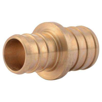 3/4 in. x 5/8 in. PEX Barb Brass Reducer Coupling Fitting