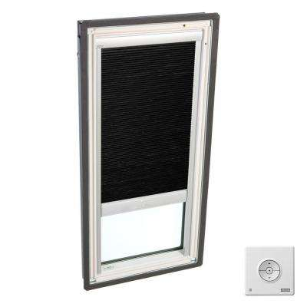Solar Powered Room Darkening Charcoal Skylight Blinds for FS C01 Models