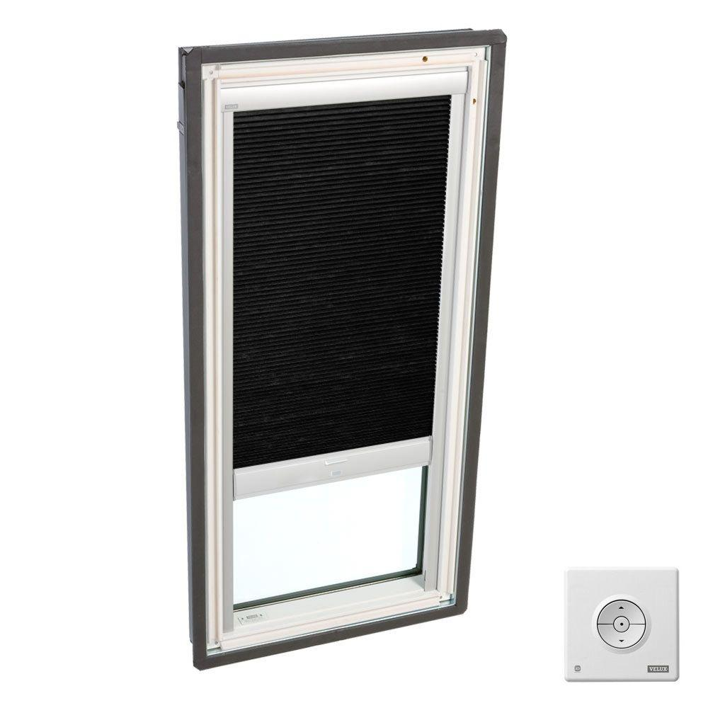 Velux solar powered room darkening charcoal skylight for Velux solar skylight tax credit