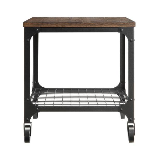 Cabella Distressed Ash End Table